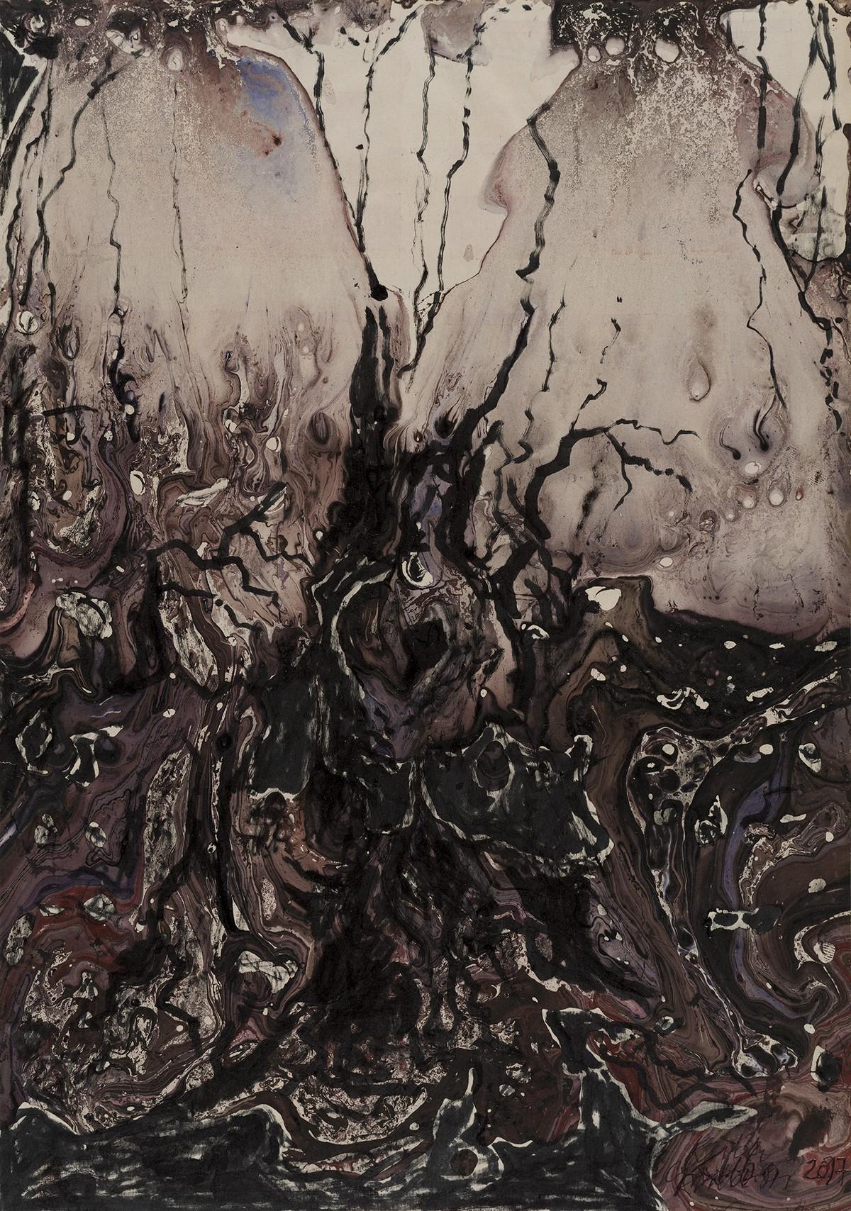 """Ryszard Kuba Grzybowski, """"Granica II"""", 2017, fot. Piotr Tomczyk (źródło: materiały prasowe organizatora)"""