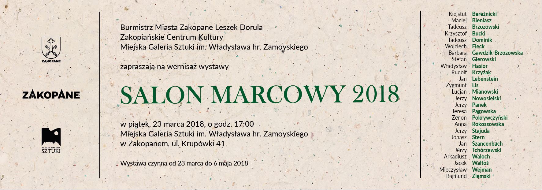 Salon Marcowy 2018 (źródło: materiały prasowe organizatora)