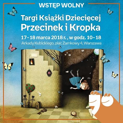 Targi Książki Dziecięcej Przecinek i Kropka, plakat (źródło: materiały prasowe organizatora)