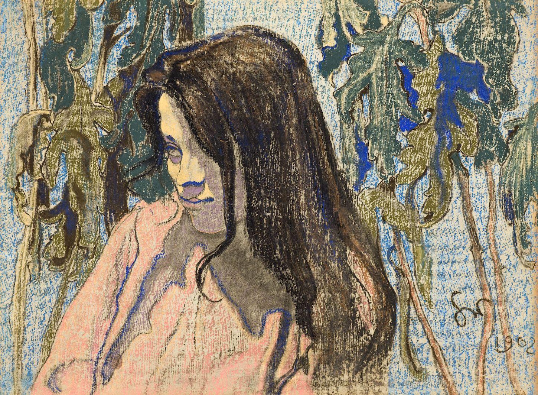 """Stanisław Wyspiański, """"Portret Marii Pareńskiej"""" 1902, Muzeum Narodowe we Wrocławiu"""