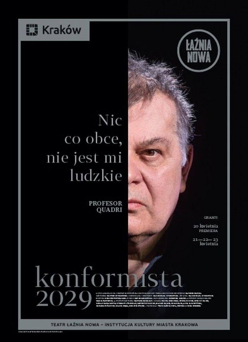 """Alberto Moravii, """"Konformista 2029"""", reż. Bartosz Szydłowski (źródło: materiały prasowe teatru)"""