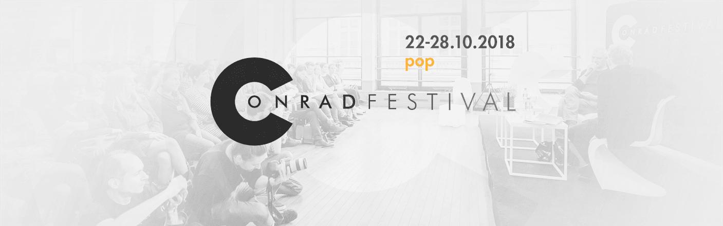 Conrad Festival 2018, plakat (źródło: materiały prasowe organizatora)