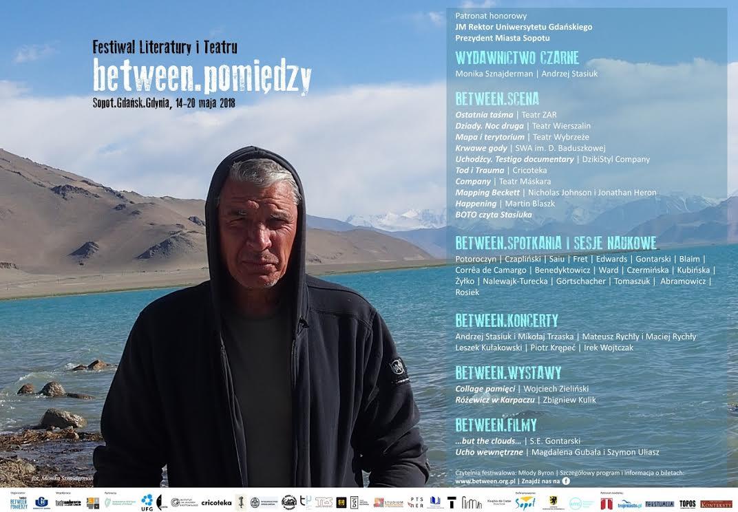 "Festiwal Literatury i Teatru ""Between.Pomiędzy"" plakat (źródło: materiały prasowe organizatora)"