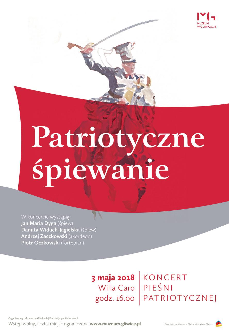 Plakat koncertu pieśni patriotycznej (źródło: materiały prasowe organizatora)
