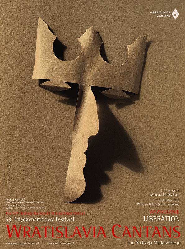 Plakat 53. Międzynarodowego Festiwalu Wratislavia Cantans im. Andrzeja Markowskiego (źródło: materiały prasowe organizatora)