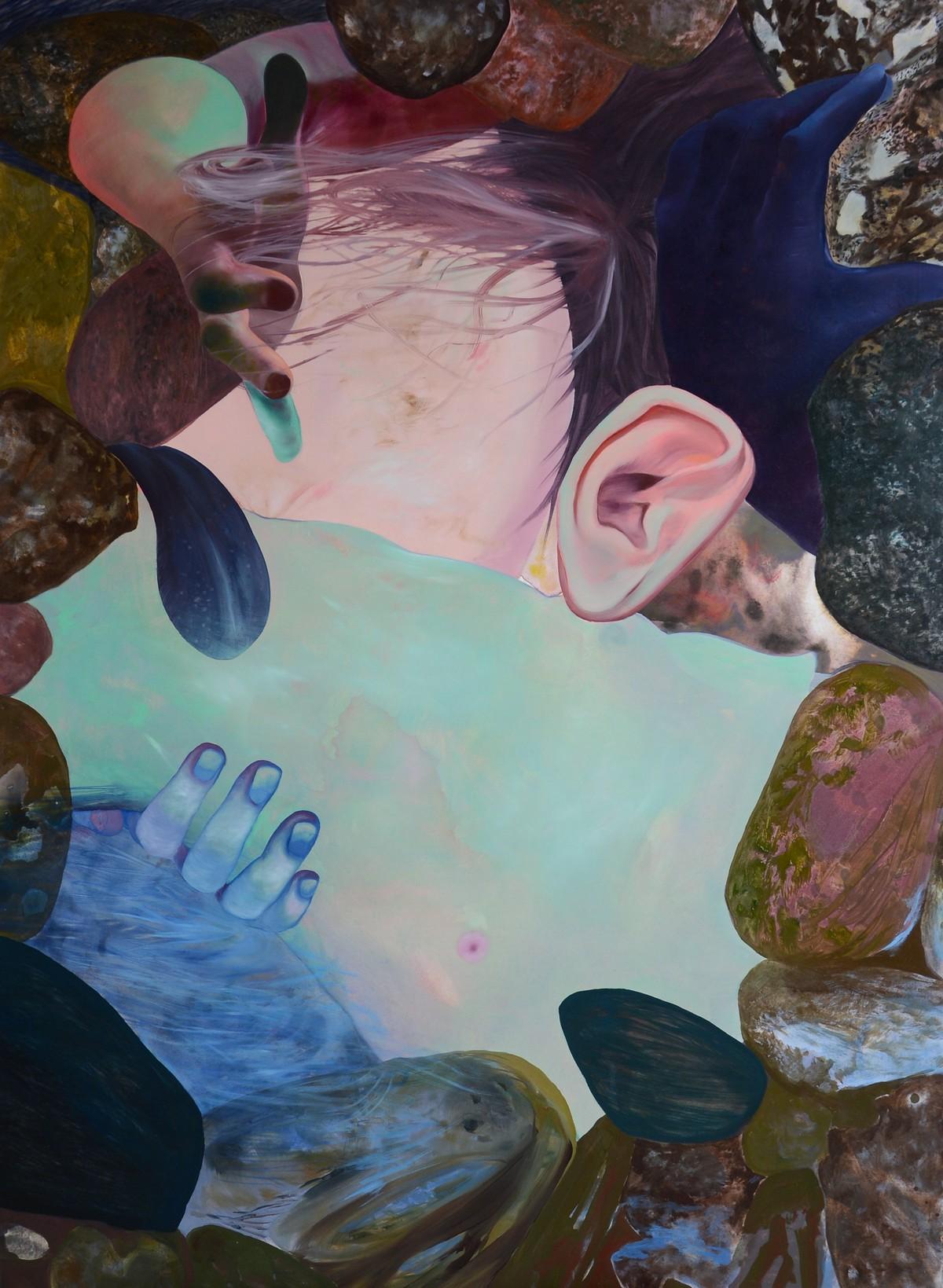 """Paulina Stasik, """"Ciało II"""", 2017, olej na płótnie, fot. dzięki uprzejmości artystki i galerii Henryk (źródło: materiały prasowe organizatora)"""