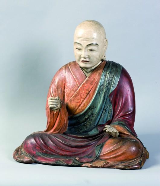 Figura siedzącego mnicha (Hachiman), XIX w. (źródło: materiały prasowe organizatora)