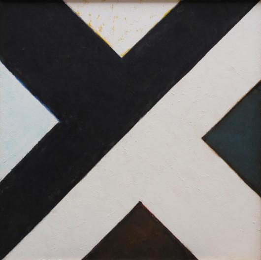 """Stefan Gierowski, """"Obraz DCCCXC"""", olej, płótno, 2011 (źródło: materiały prasowe organizatora)"""