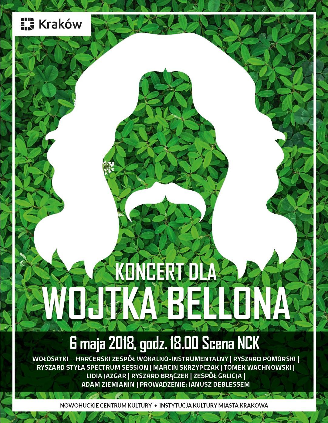 """Koncert dla Wojtka Bellona"" – plakat (źródło: materiały prasowe organizatora)"
