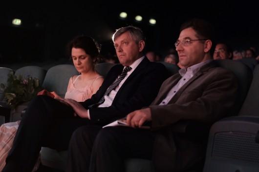 Sergei Loznitsa (w środku) fot. Kamila Szatan (źródło: materiały prasowe organizatora)