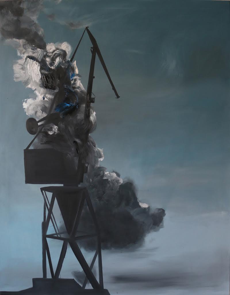 "Andrzej Bembenek ""On"" olej 195x150 cm, 2017"
