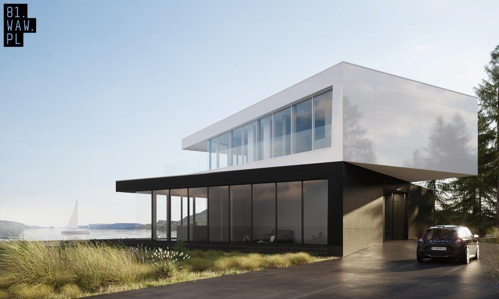 Dom czarno na białym, projekt: 81.waw.pl (źródło: materiały prasowe pracowni)