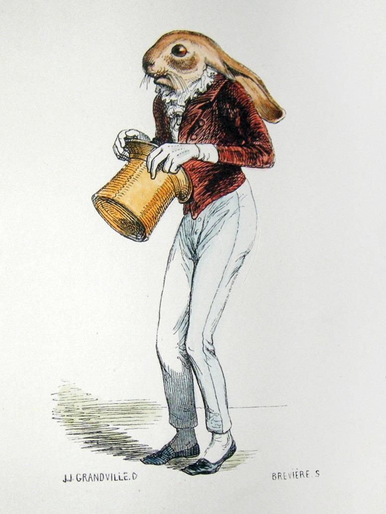"""Ludwik Jerzy Kern, """"Karampuk. Baśń o króliku z cylindra"""", reż. Grzegorz Turnau, il. Jean Ignace Sidore Gerard (źródło: materiały prasowe teatru)"""
