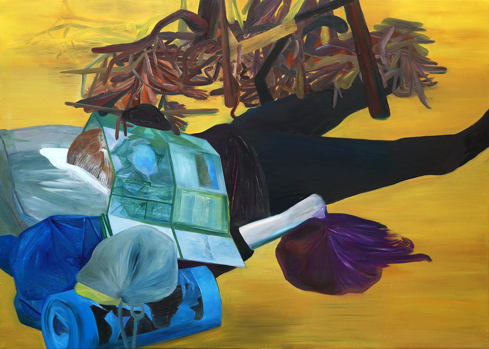 """Dominika Kowynia, """"Oczy suszy"""", 100x140 cm, olej na płótnie, 2018 (źródło: materiały prasowe organizatora)"""