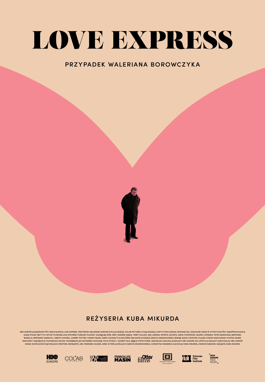 """""""Love Express. Przypadek Waleriana Borowczyka"""", plakat filmu (źródło: materiały prasowe)"""