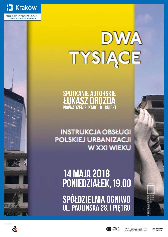 Plakat spotkania z Łukaszem Drozdą (źródło: materiały prasowe organizatora)