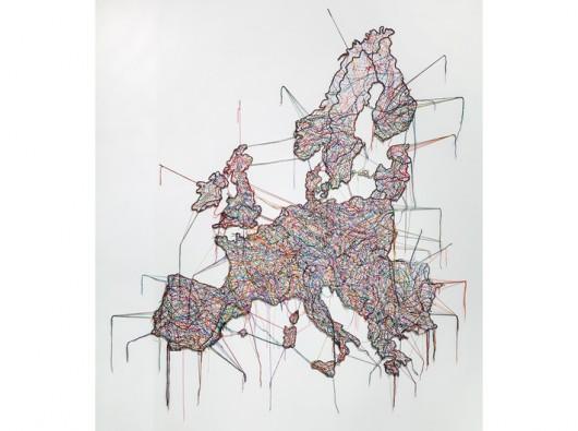 """Małgorzata Markiewicz, """"Mapa"""", 2013, obiekt 250 x 250 cm, kolekcja MOCAK-u, fot. R. Sosin"""