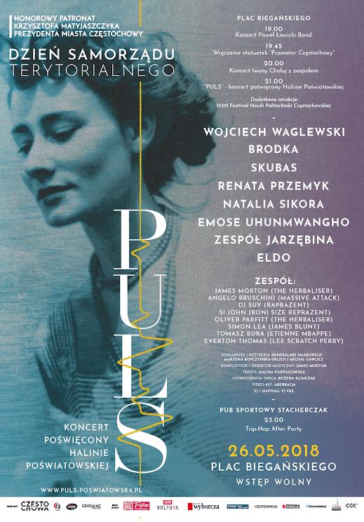 """""""Puls"""" Koncert poświęcony Halinie Poświatowskiej, plakat (źródło: materiały prasowe organizatora)"""