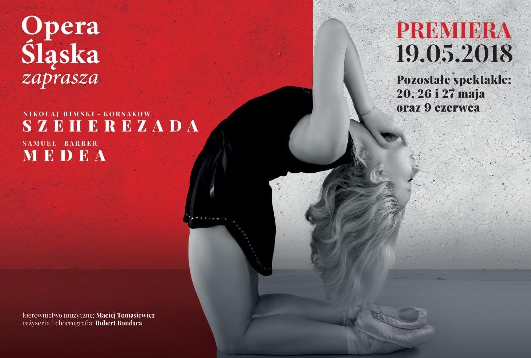 """""""Szeherezada"""" i """"Medea"""" – plakat spektakli (źródło: materiał prasowy organizatora)"""