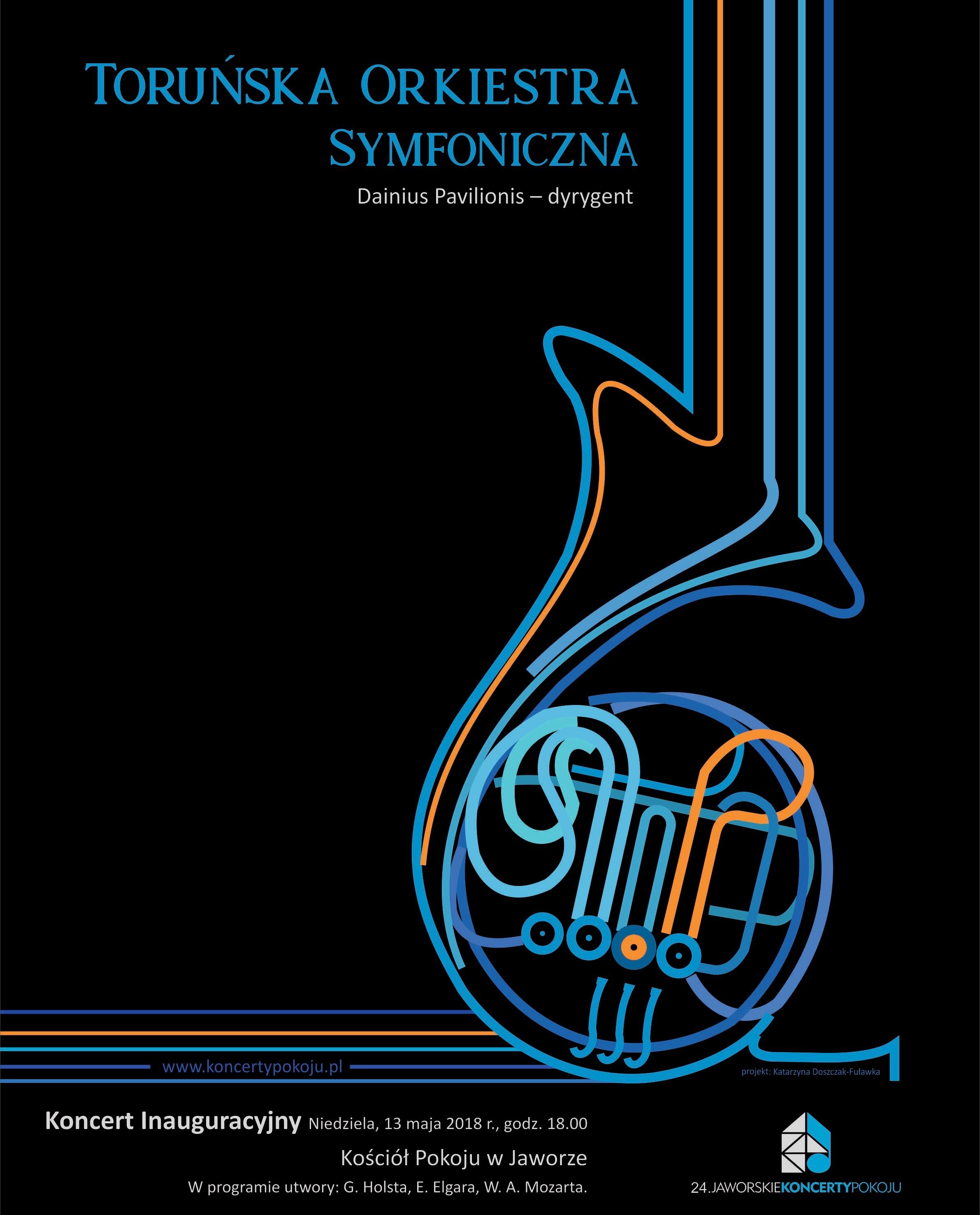 Jaworskie Koncerty Pokoju, Toruńska Orkiestra Symfoniczna, plakat (źródło: materiały prasowe organizatora)