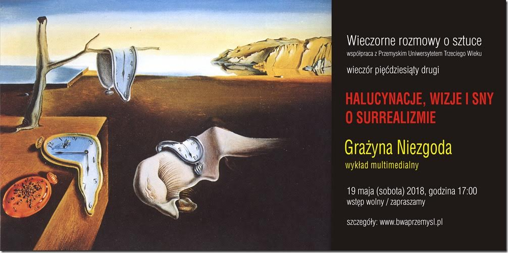 Halucynacje, wizje i sny / O surrealizmie, plakat (źródło: materiały prasowe organizatora)