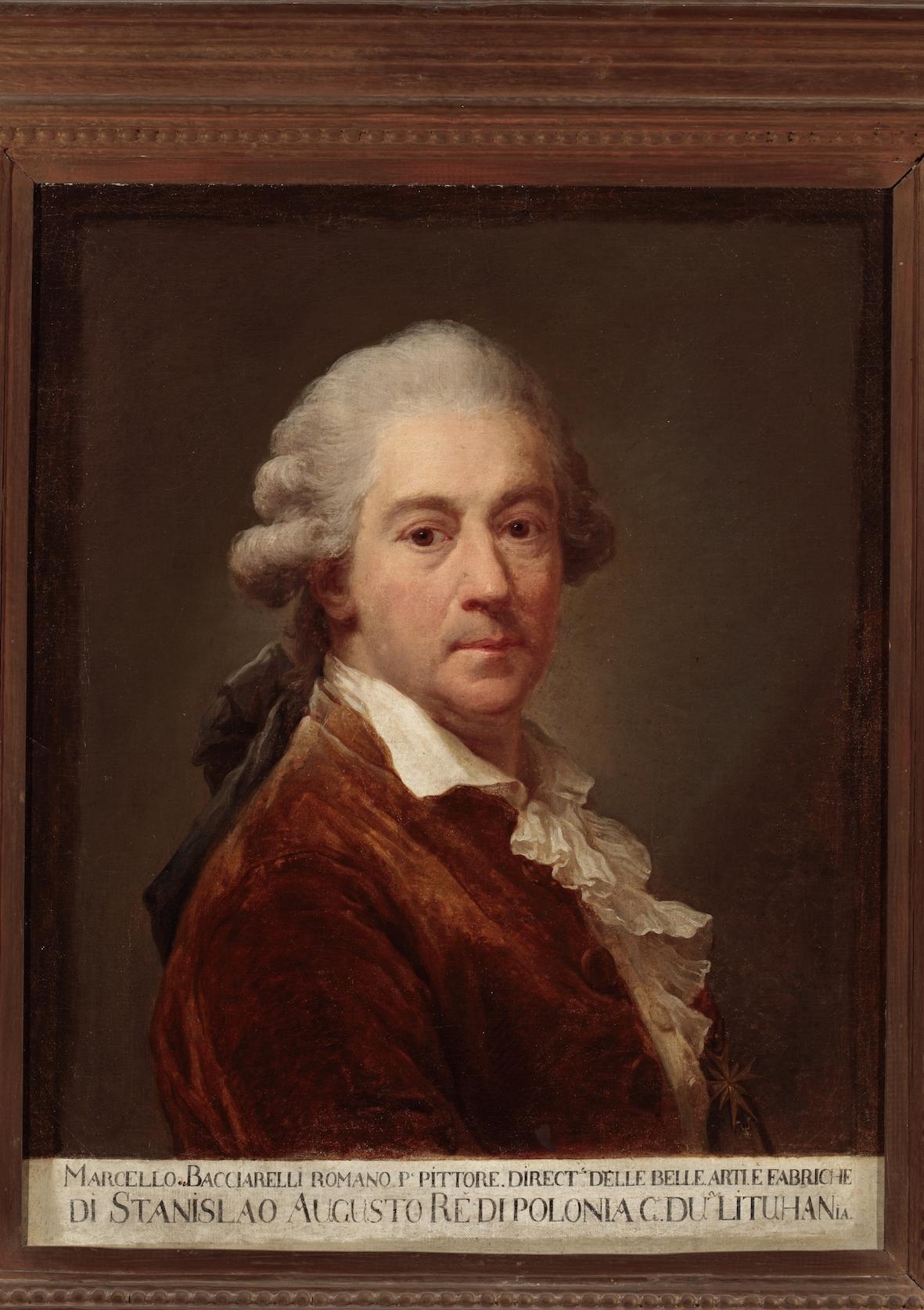 """Marcello Bacciarelli """"Autoportret w brązowym fraku"""" olej na płótnie (źródło: materiały prasowe organizatora)"""