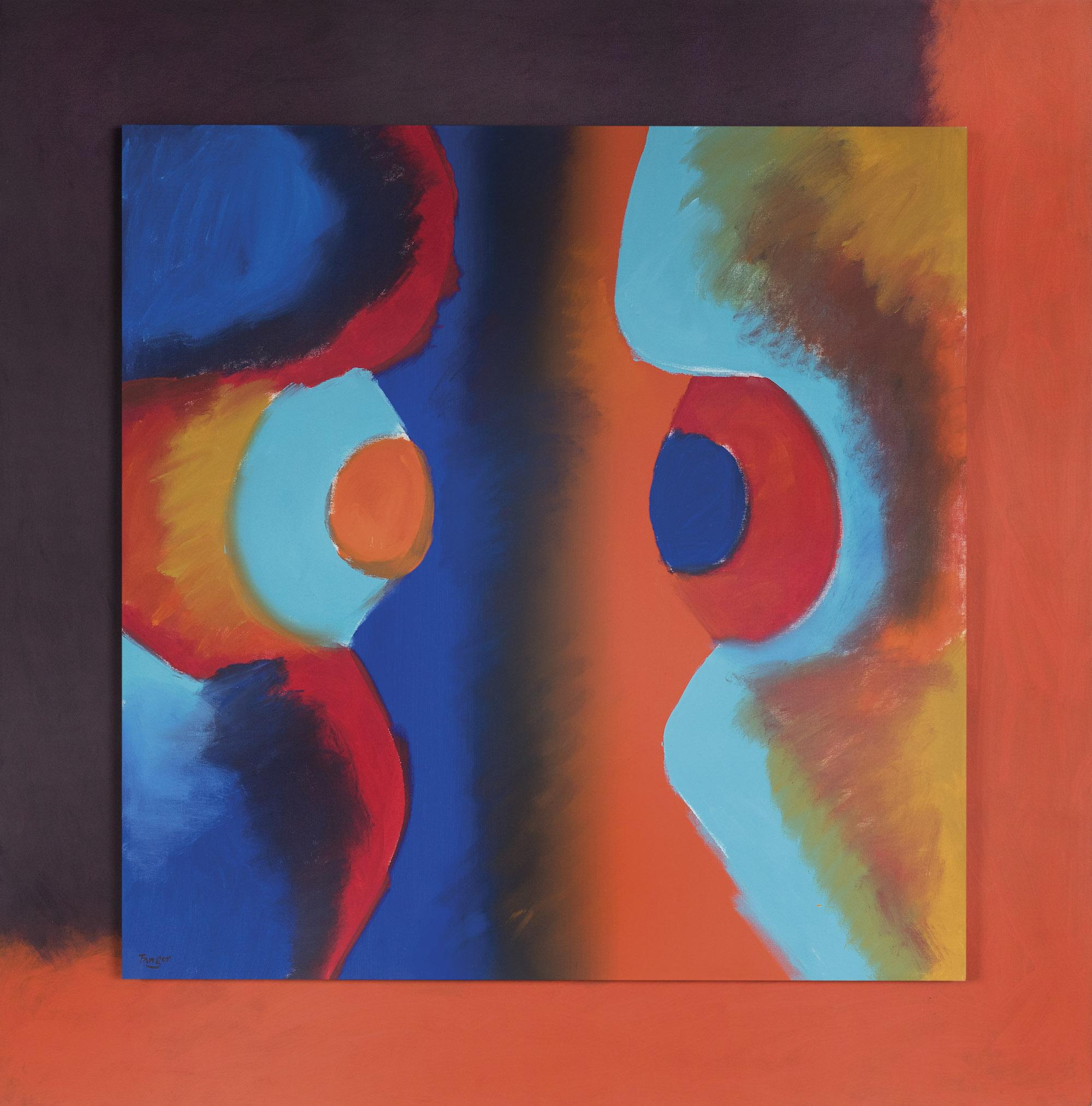 """Wojciech Fangor, """"IS 37"""", 1976, olej, płótno, 168 x 168 cm, kolekcja prywatna (źródło: materiały prasowe organizatora)"""
