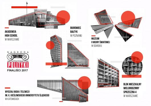 Finaliści Nagrody Architektonicznej POLITYKI 2017 (źródło: materiały prasowe organizatora)