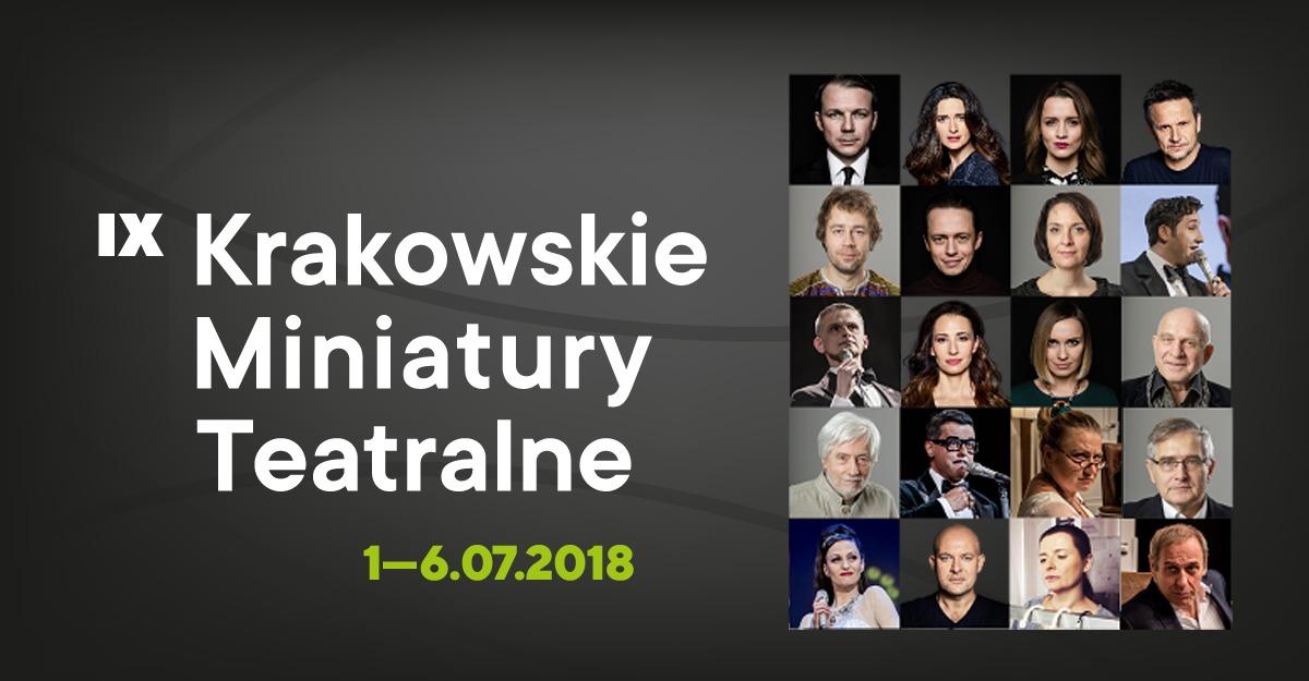 IX Krakowskie Miniatury Teatralne (źródło: materiały prasowe organizatora)