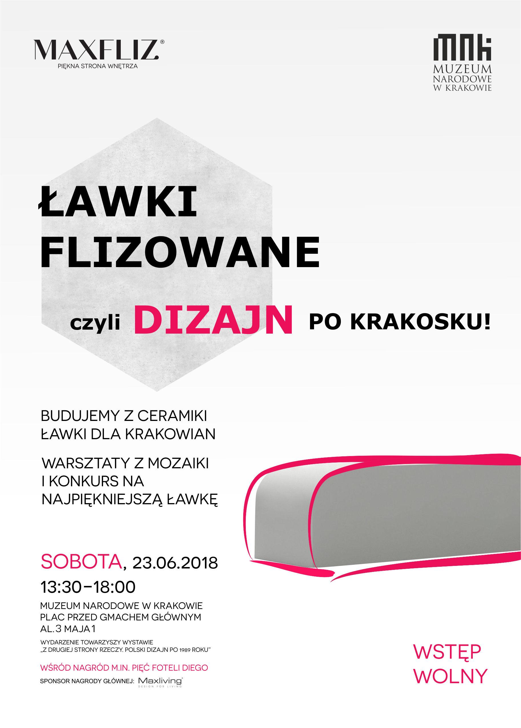 """""""Ławki flizowane, czyli dizajn po krakosku"""", Muzeum Narodowe w Krakowie (źródło: materiały prasowe organizatora)"""