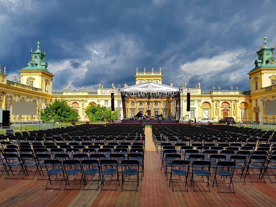 Letnie koncerty w Wilanowie, Nigel Kennedy, Aleksander Dębicz (źródło: materiały prasowe organizatora)