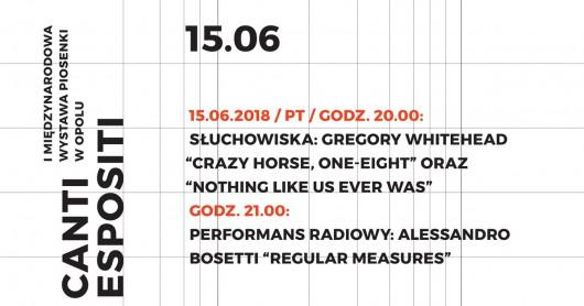 Słuchowisko/ performance w Galerii Sztuki Współczesnej w Opolu  (źródło: materiały prasowe organizatora)