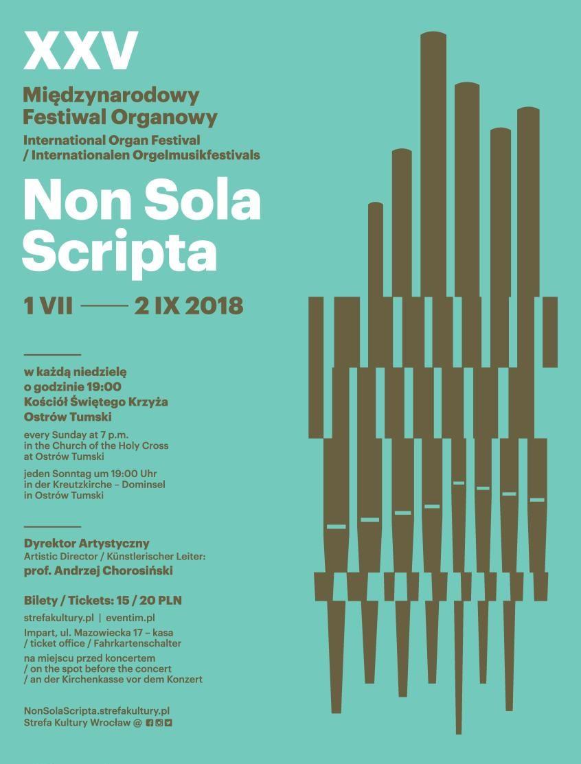 XXV Międzynarodowy Festiwal Organowy Non Sola Scripta (źródło: materiały prasowe)
