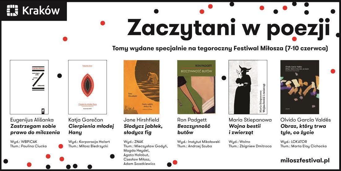 Festiwal Miłosza, nowości wydawnicze (źródło: materiały prasowe organizatora)