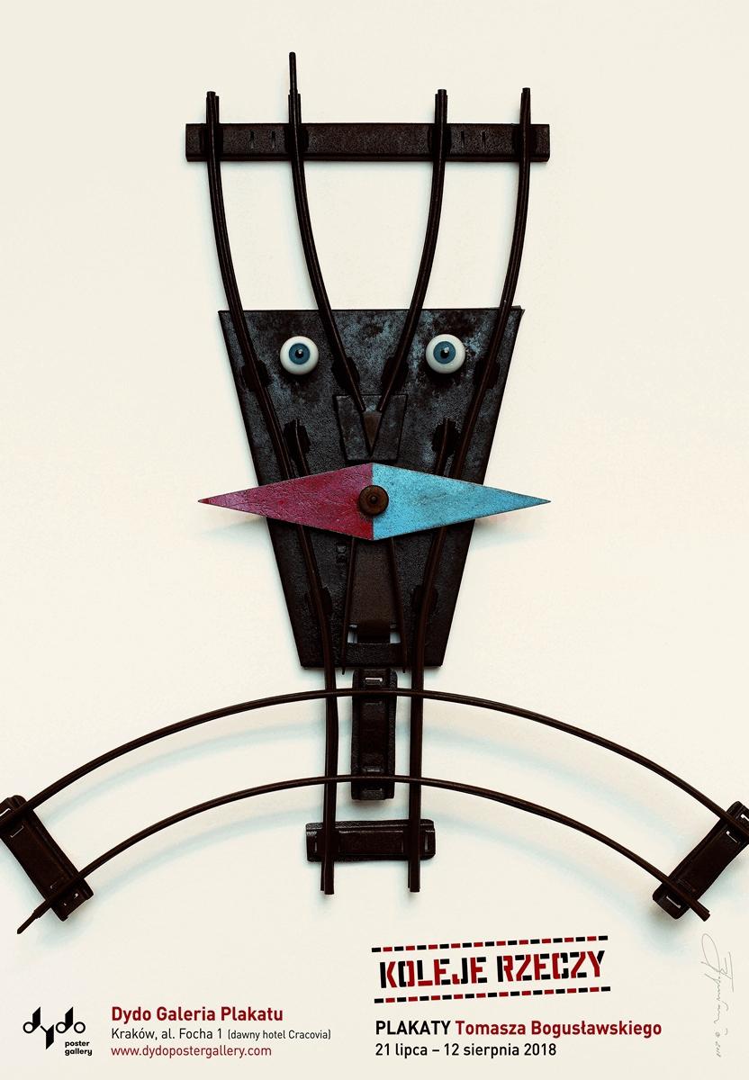 """""""Koleje rzeczy. Plakaty Tomasza Bogusławskiego"""", Dydo Galeria Plakatu (źródło: materiały prasowe organizatora)"""