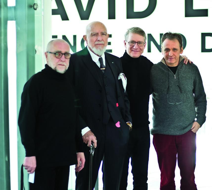 Wacław Kuczma, Markus Lüpertz, Marek Żydowicz i Michael Haas w 2017 roku (źródło: materiały prasowe organizatora)