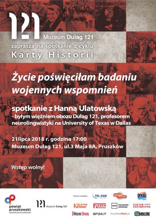"""""""Życie poświęciłam badaniu wojennych wspomnień"""", spotkanie z prof. Hanną Ulatowską (źródło: materiały prasowe organizatora)"""