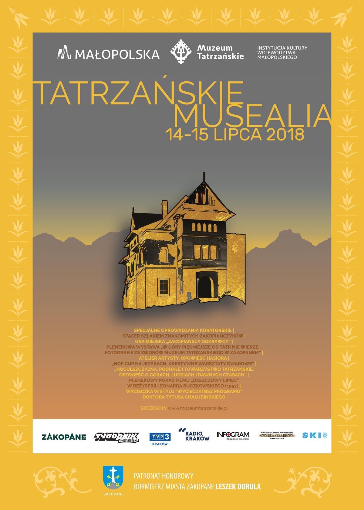 Tatrzańskie Musealia 2018 (źródło: materiały prasowe organizatora)