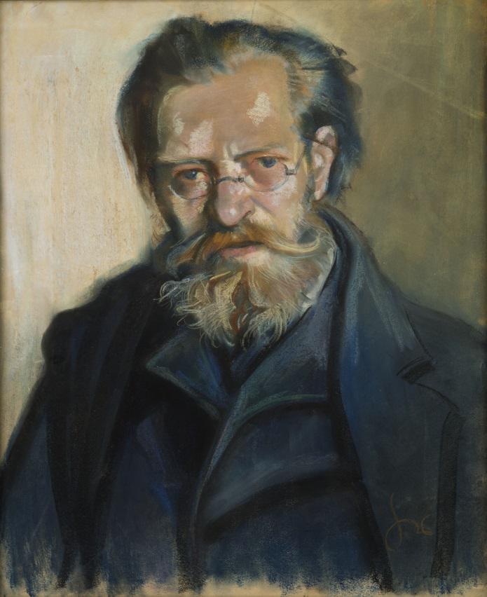 """Stanisław Wyspiański, """"Portret Franciszka Wyspiańskiego"""", 1894-1895 pastel, papier; wł. Muzeum Narodowe w Warszawie, fot. Piotr Ligier – MNW (źródło: materiały prasowe organizatora)"""