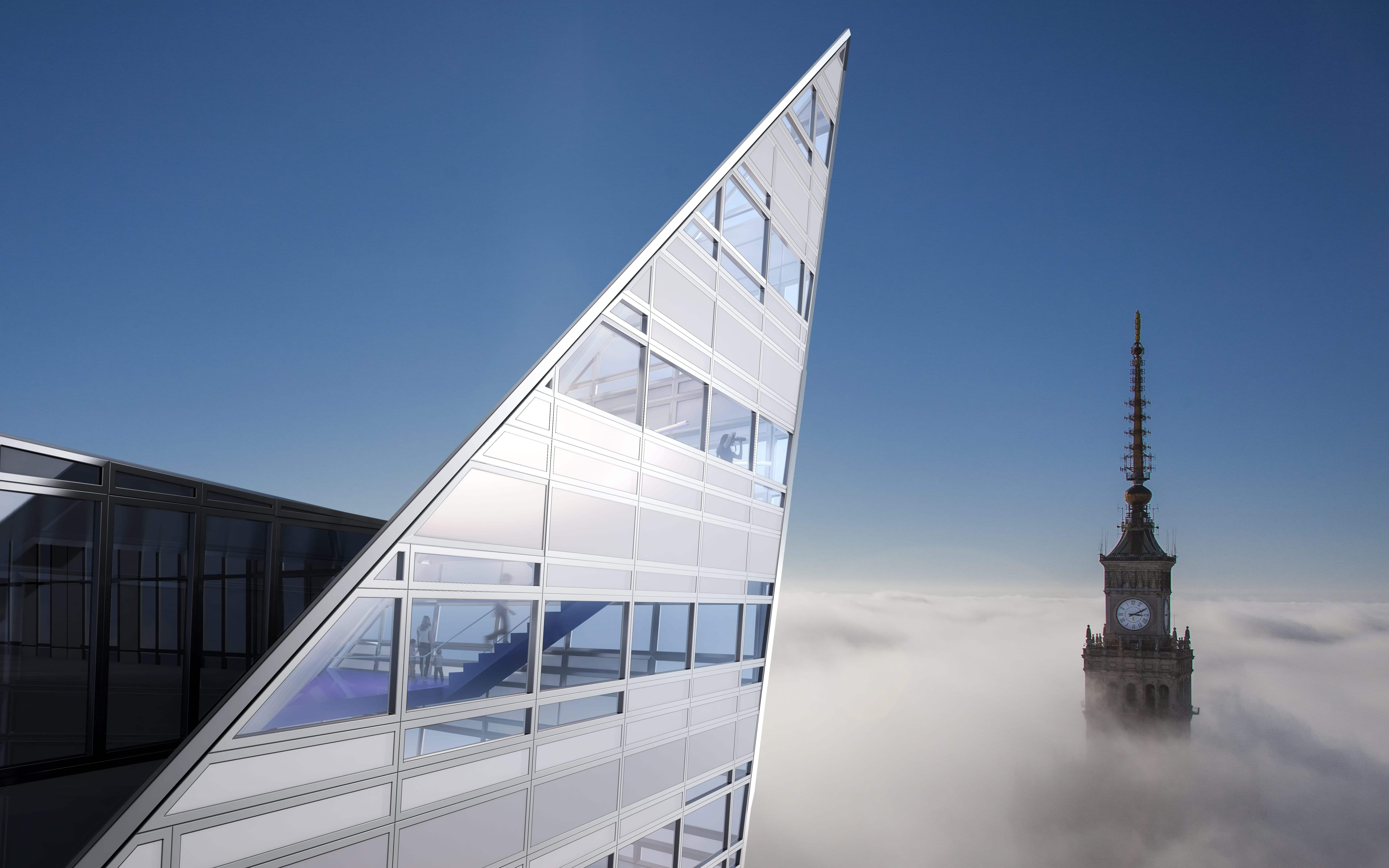 """Daniel Libeskind, """"Złota 44"""" (źródło: materiały prasowe)"""