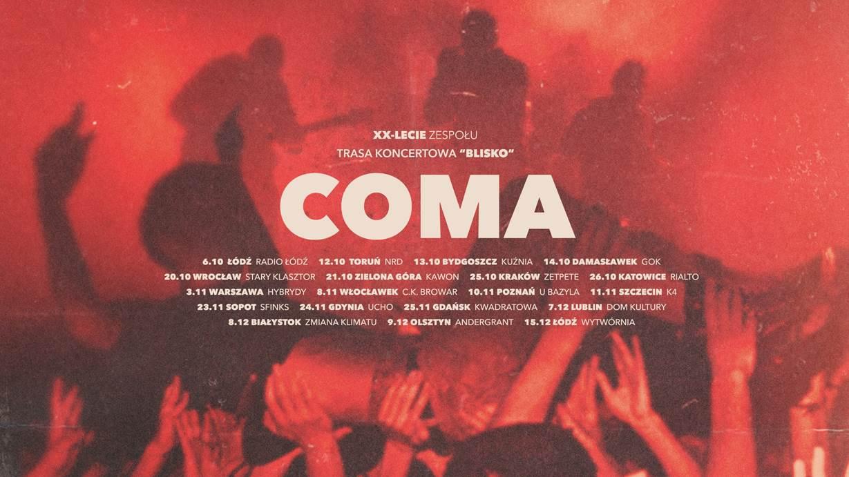 Coma, 20-lecie zespołu, 2018 (źródło: materiały prasowe organizatora)