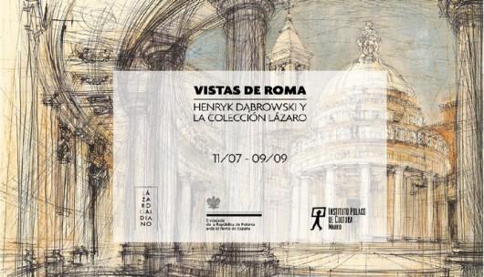 """""""Visitas de Roma"""",wystawa prac Henryka Dąbrowskiego w Madrycie (źródło: materiały prasowe organizatorów)"""