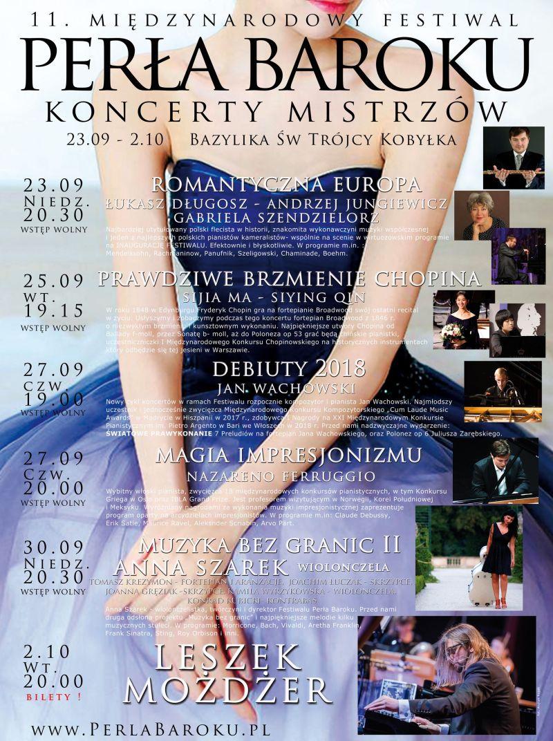 11. Międzynarodowy Festiwal Perła Baroku – Koncerty Mistrzów (źródło: materiały prasowe organizatora)