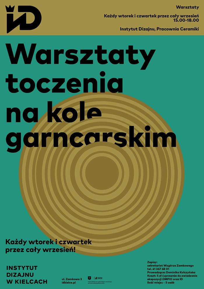 """""""Warsztaty toczenia na kole garncarskim"""", Instytut Dizajnu w Kielcach (źródło: materiały prasowe organizatorów)"""