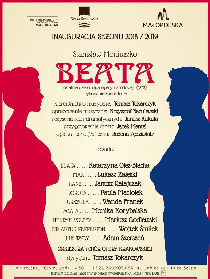 """Stanisław Moniuszko, """"Beata"""", reż. Janusz Kukuła, kier. muz. Tomasz Tokarczyk (źródło: materiały prasowe opery)"""