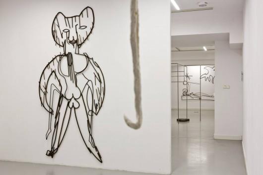 """Wiktoria Walendzik, """"Ze szkicownika"""", 2018, fragment.instalacji (źródło: materiały prasowe organizatora)"""