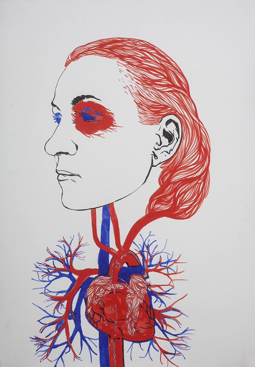 """Agnieszka Sandomierz, z cyklu: ,,Wszystkie na mnie"""", 2015 (źródło: materiały prasowe organizatora)"""