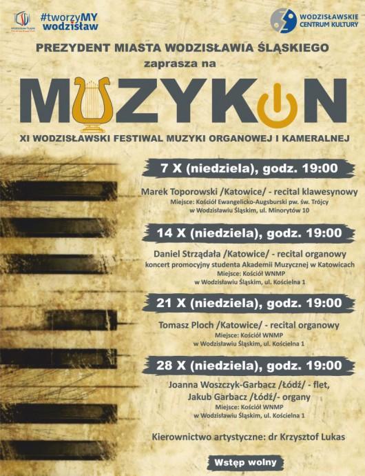 11. Wodzisławski Festiwal Muzyki Kameralnej i Organowej Muzykon (źródło: materiały prasowe organizatora)