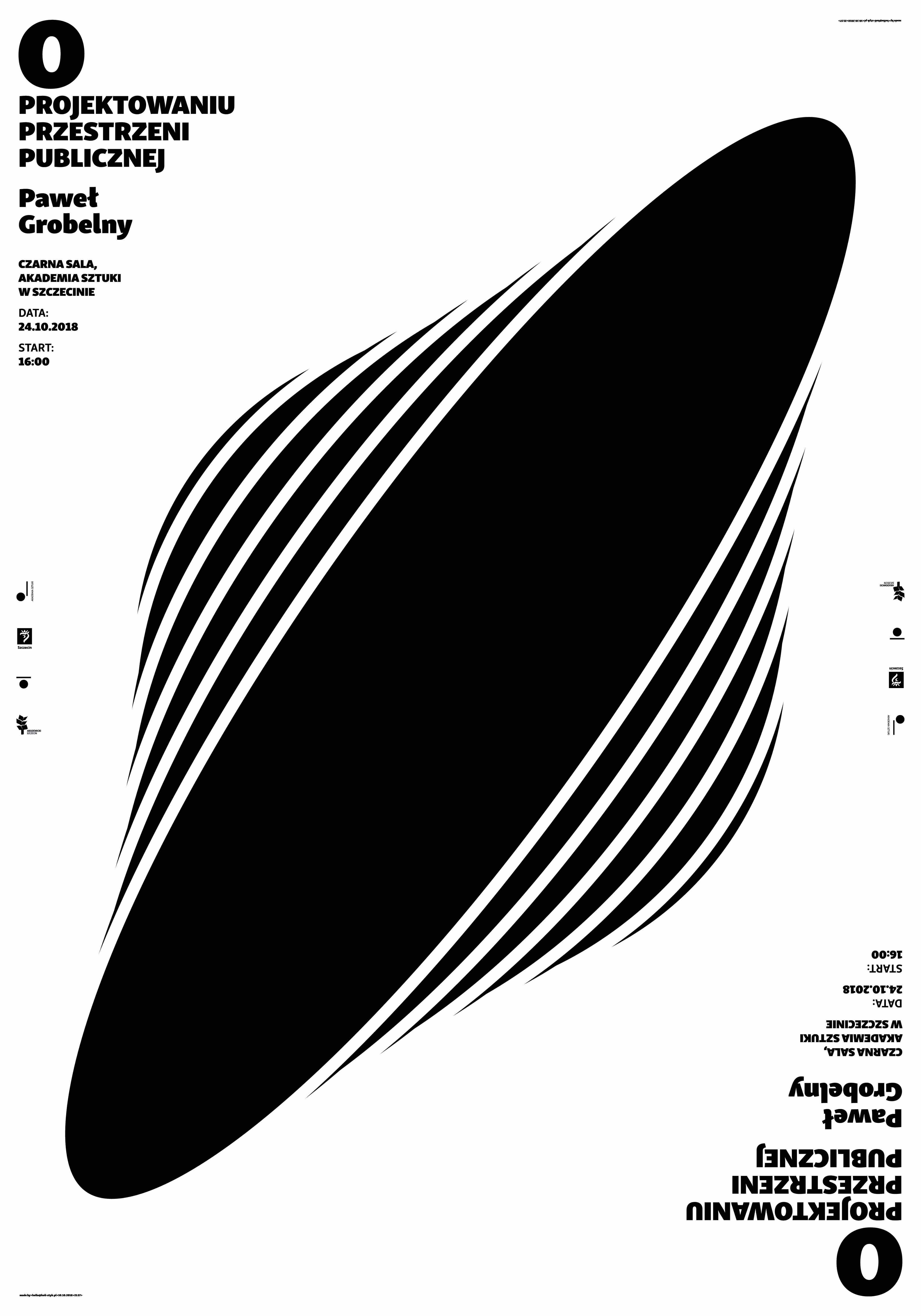 """Paweł Grobelny, """"O projektowaniu przestrzeni publicznej"""", Akademia Sztuki w Szczecinie (źródło: materiały prasowe organizatorów)"""