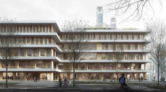JEMS Architekci, Projekt budynku uniwersyteckiego w Warszawie (źródło: materiały prasowe organizatorów)